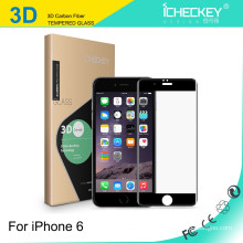 Китайская оптовая продажа закаленное стекло 3D углеродного волокна протектор экрана для iPhone6