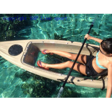 Clear Transparent Bottom Single Fishing Kayak with CE Certificate
