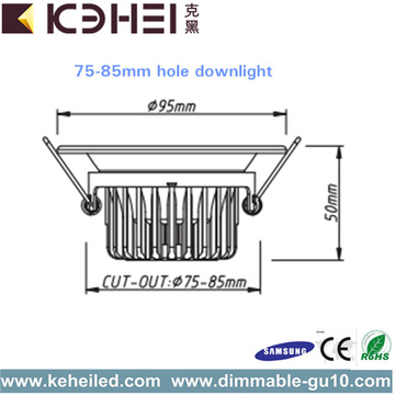 CE 220V LED dimbare downlighters 5W SMD