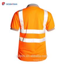 T-shirt à manches courtes à haute visibilité Viz visibilité sécurité T-shirt En471 T-shirt à haute visibilité gris collier sécurité Vis