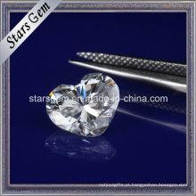 Moissanite frouxo do diamante sintético da forma do coração para a jóia
