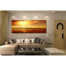 Pintura de la lona de la puesta del sol de la alta calidad para la decoración casera