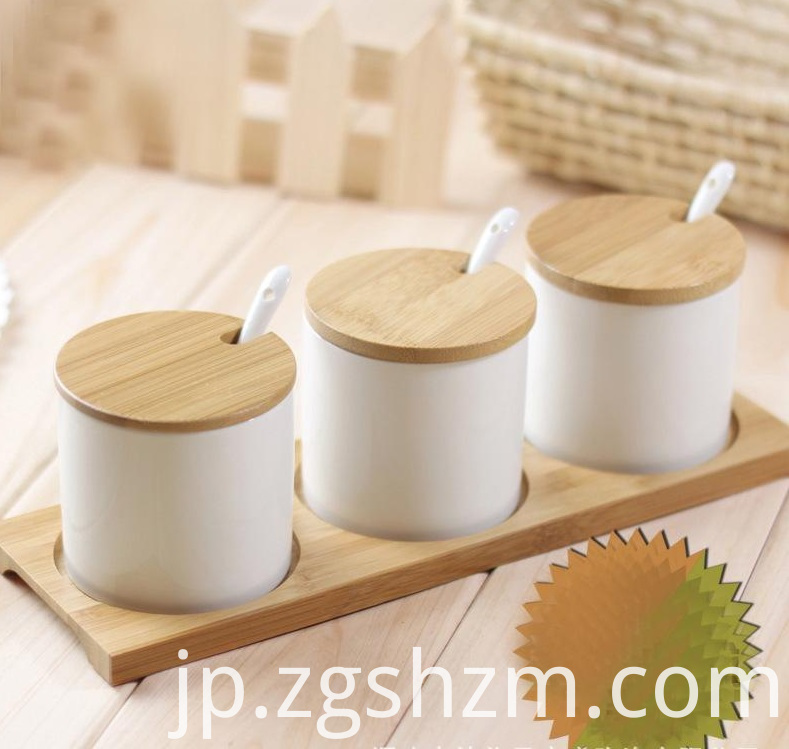 Kitchen Spice Set Bamboo Rack
