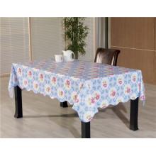 Новый дизайн винила Материал PVC напечатанная Крышка стола Затыловка nonwoven Tablecover