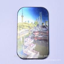 personalized hot selling aluminium wire drawing Shanghai souvenir fridge magnets