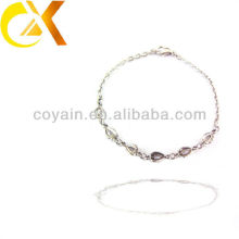 Stainless steel jewelry accesorries charm chain link sister friendship bracelet