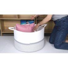 Cesto de armazenamento doméstico Cesto de algodão multifunções para roupa suja