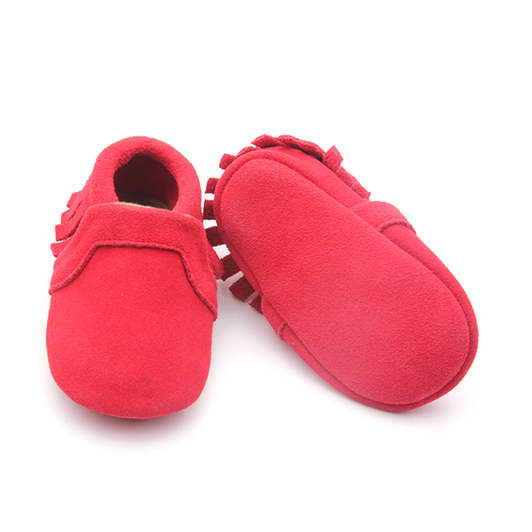 Red Bottom Christmas Baby Shoes Leather