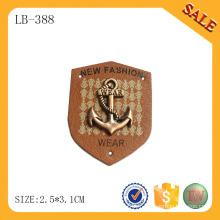 LB388 Jeans enfants pu logo tag étiquette cuir personnalisé