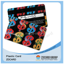 Offset de impresión de PVC transparente Nombre Tarjeta de visita