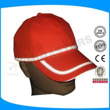 Fluorecent amarelo ou laranja de segurança cap reflexivo com cinza reflexivo tubulação