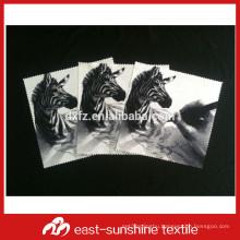 personalized bulk printed black micro fiber