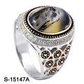 Новое Прибытие стерлингового серебра 925 кольцо с натуральным камнем