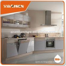 La fábrica de precio competitivo directamente Hangzhou alto brillo blanco laca gabinetes de cocina