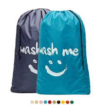 Customized Travel Laundry Bags Rip-Stop Nylon Heavy Duty Dirty Clothes Laundry Bag with Drawstring