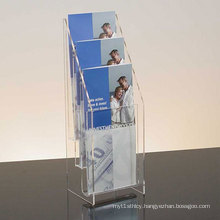 Transparent Acrylic Brochure Holders with Four Tiers