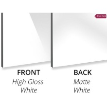 Aluminium composite panel High Gloss White