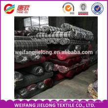 100% teñido de algodón teñido tela cruzada tela de franela tela Tejido tela de algodón teñido tela de calidad superior para camisas