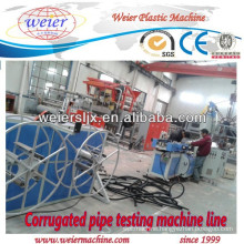 plastic Corrugated HDPE PVC pipe extrusion machine