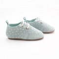 Printing White Dots Blau Kinder Oxford Schuhe
