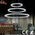Großhandelsmoderne drei Ringe Crystal Chandelier Lighting