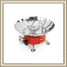 Mini estufa de gas a prueba de viento, quemador de gas butano