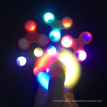 2017 New Design Led Light Finger Fidget Spinner Hand Spinner Toys