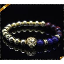 Bracelets à breloques en perles, Bracelets à perles rondes en or Vente en gros (CB0104)