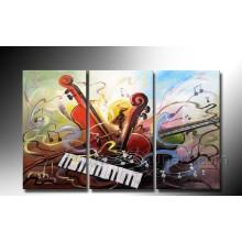 Ручная картина стены музыки Аннотация искусства фортепиано масляной живописи на холсте (XD3-203)