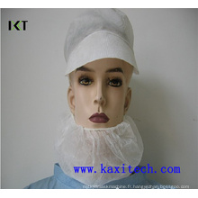 Masque à la barbe non tissé jetable avec double élastine Kxt-Nbc02