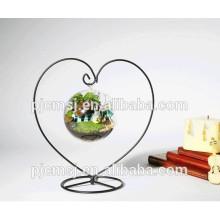 горячая распродажа прозрачное стекло висит шар ваза ,декоративные висит кристалл ваза для цветов