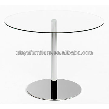 Round glass table top and round metal base XY7019