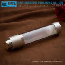 ZB-RB50 50ml klar Doppelschichten Kunststoff Dreh airless Lotion Pumpe Flaschen