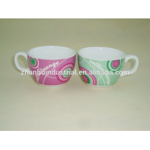 Modern porcelain espresso coffee cup and saucer