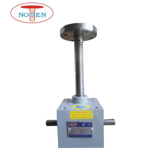 Manual 50KN heavy duty worm gear machine screw jacks