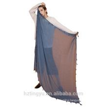 Tingyu Factory stocked 140*140cm Oversize Large soft stole square cotton Tassels hijab scarf shawl plain