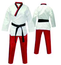 red taekwondo uniform dobok