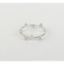 Fashion 925 Sterling Silver Unique Diamond Cubic Zircon Ring