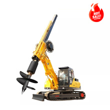 hydraulic pilling rotary rig  auger bore pile foundation machine guardrail pile driver rig