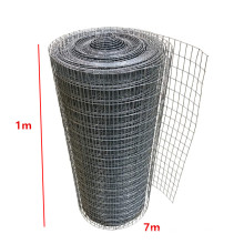 ISO Manufacturer 1X7m Galvanized Welded Wire Mesh PVC Coated Twisted Into A Roll Garden fence Canada