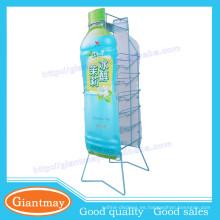 6 capas de cesta de alambre metálico azul desmontable pantalla para la promoción
