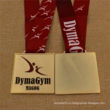 Пользовательские высокое качество золото спортивная гимнастика медаль с Талреп сублимации