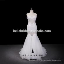 2016 meistverkaufte Hochzeitskleid Trompete Design Online-Shop