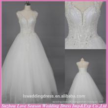 WD6029 Quality fabric good handmade export quality satin and tulle wedding dress cap sleeve sweetheart neck wedding dress 2015
