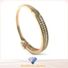 Wholesale 925 Silver Bangle Bracelet with White Stone 925 Silver Fashion Jewelry (G41249)