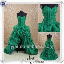 RSE156 Schatzausschnitt entbeintes Korsett Rüschenrock kurzes vorderes langes rückseitiges Abschlussball-Kleid
