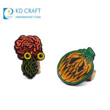 Manufacturer china custom shape badge metal enamel halloween funny pumpkin lapel pin for decoration