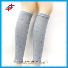 Hot star patterned lady's cotton knitted beautiful leg warmers socks