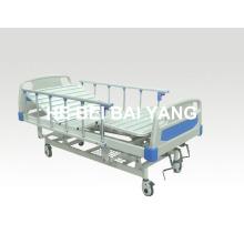 (A-42) Подвижная трехфункциональная ручная больничная койка с головкой из ABS-кровати