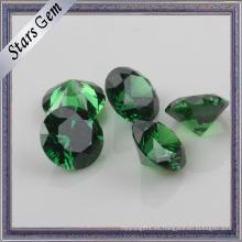 Esmeralda cúbica del zirconio cúbico del origen verde de Wuzhou para la joyería